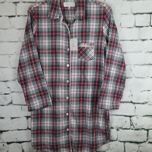 Victoria's Secret Plaid Night Shirt Large